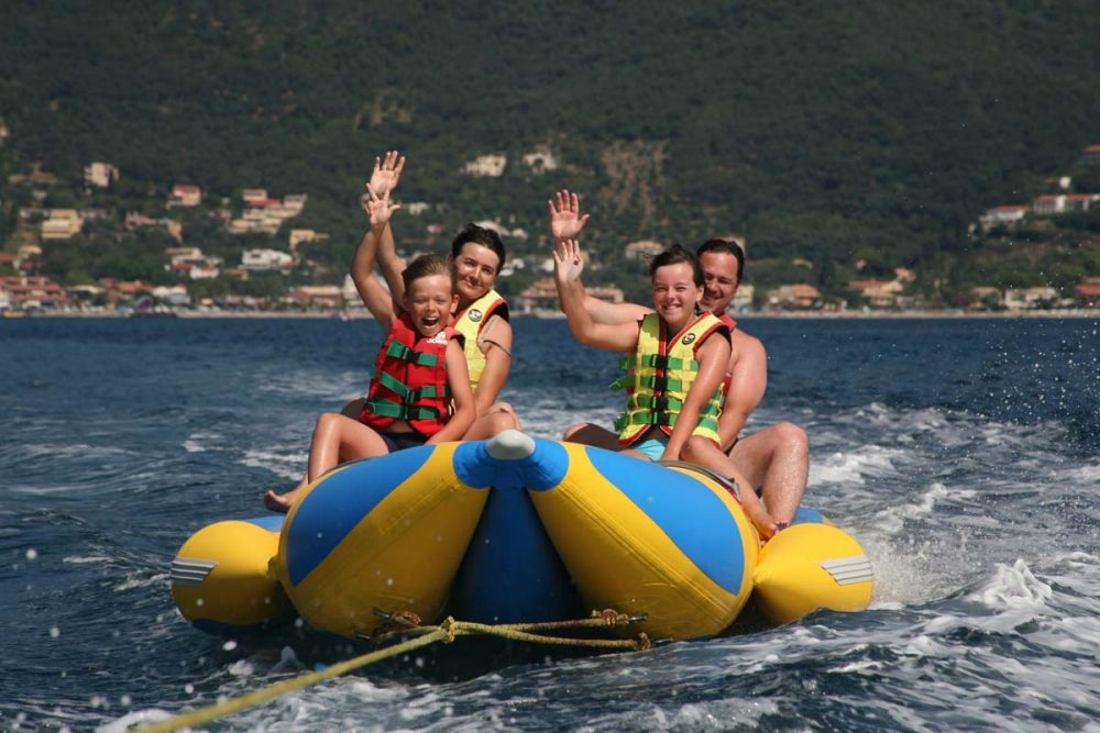 corfu ski clu watersports banana inflatable rides 06 1