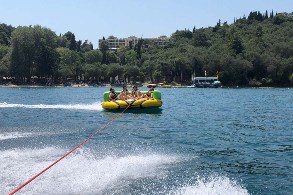 corfu ski clu watersports inflatable rides