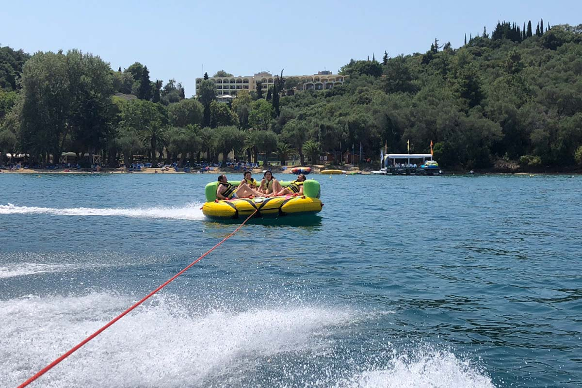 corfu ski clu watersports inflatable rides