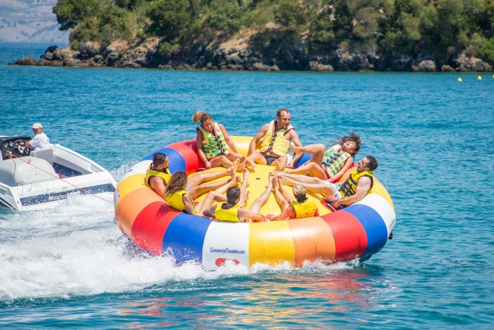 inflatable rides in corfu ski club twister spinning 01
