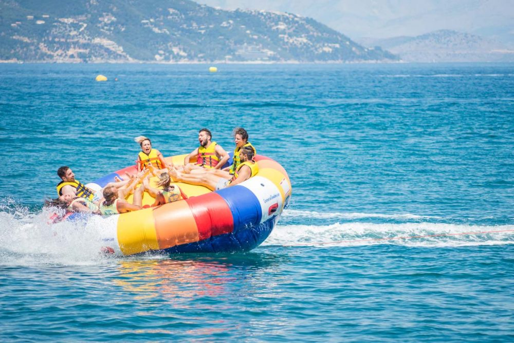 inflatable rides in corfu ski club twister spinning 02