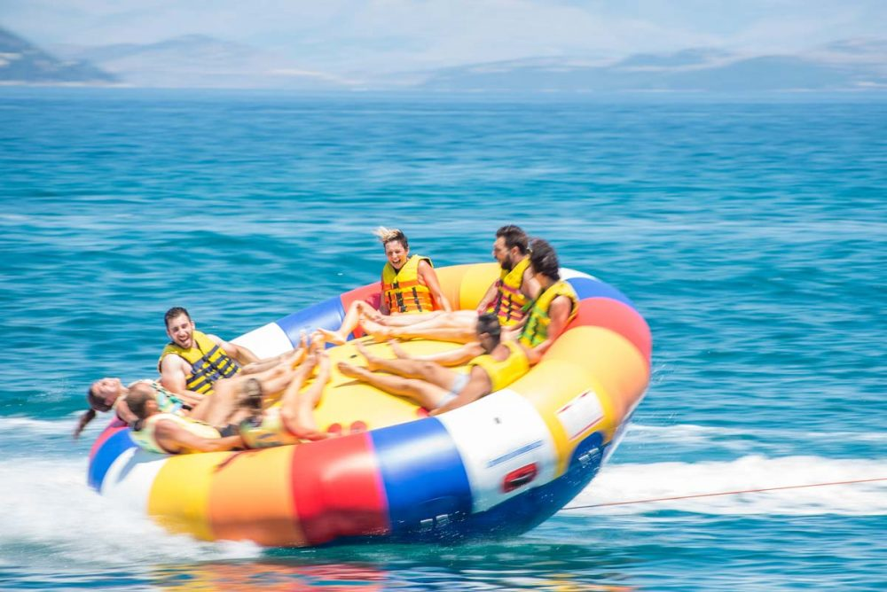 inflatable rides in corfu ski club twister spinning 03