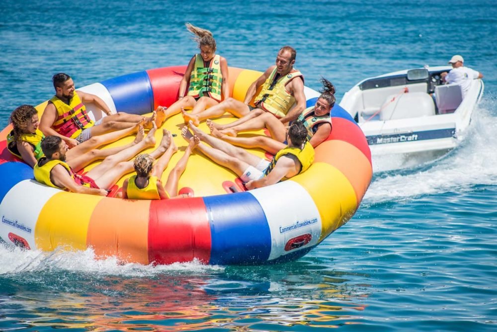 inflatable rides in corfu ski club twister spinning 04