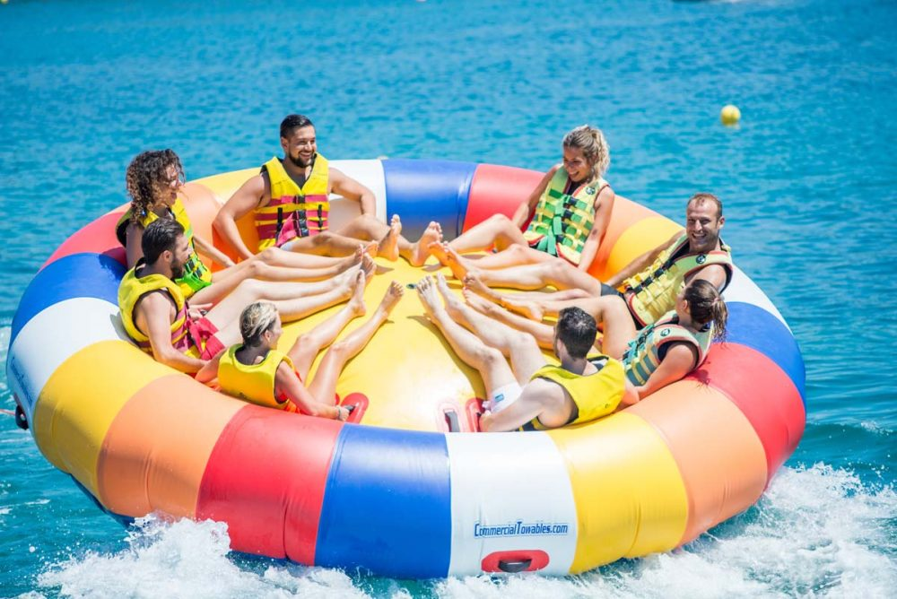 inflatable rides in corfu ski club twister spinning 05
