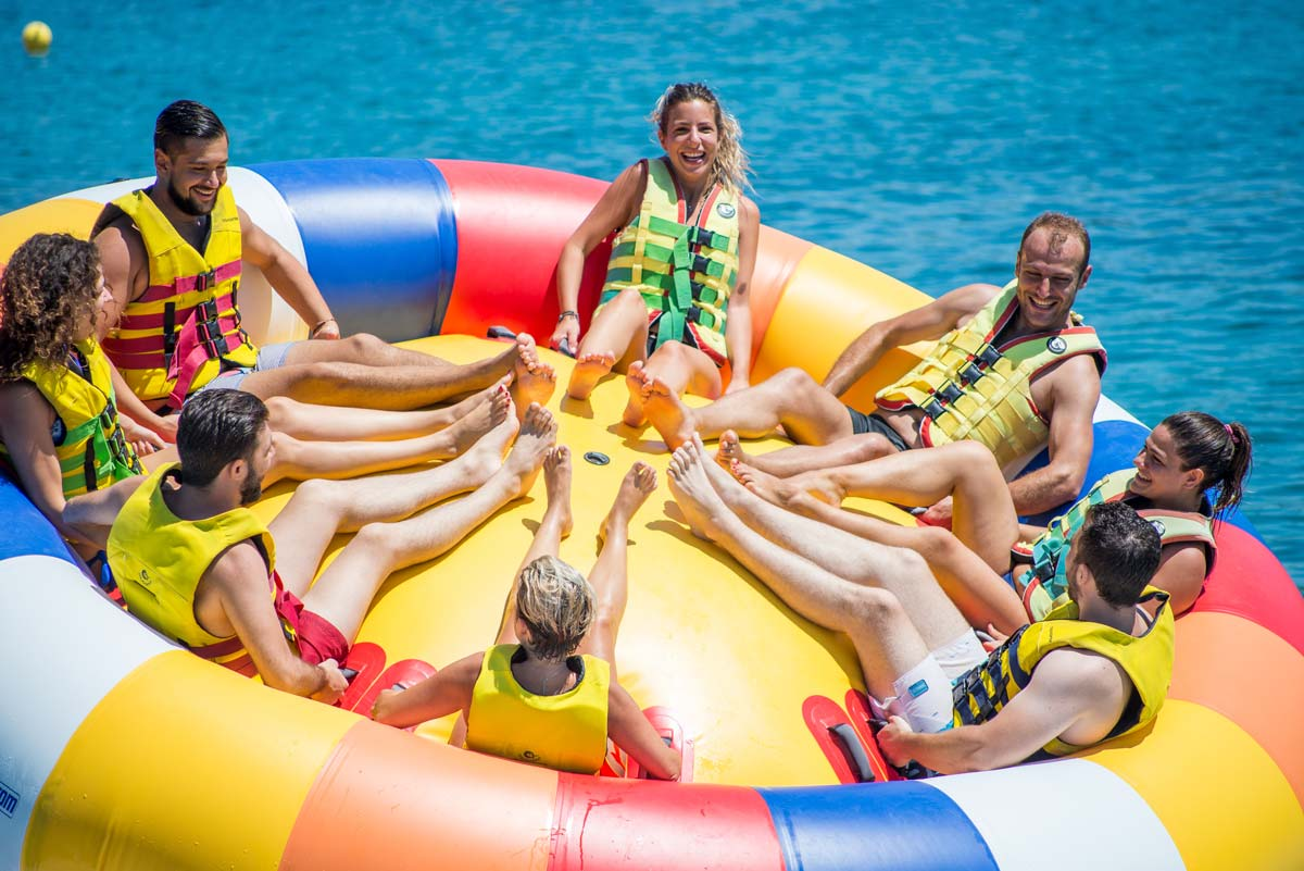 inflatable rides in corfu ski club twister spinning 06